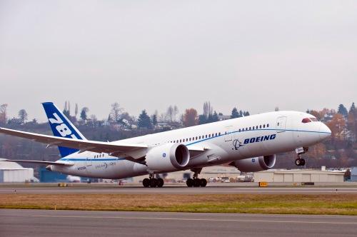 787 ZA006 Record Flight Takeoff K65515